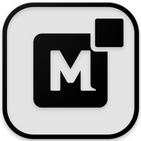 Monoic SQ Black Icon Pack: Dark, Minimalistic