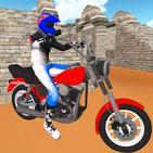 Simulador de motocicleta: coche rápido y policía