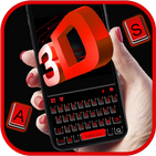 Neon 3D Red Keyboard Theme