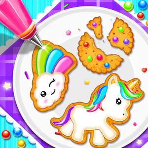 Unicorn Cookie Chef: Dessert Cooking Game
