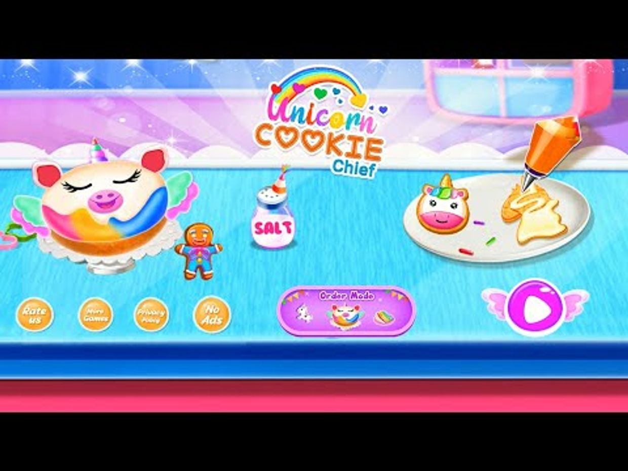 Video Image - Unicorn Cookie Chef: Dessert Cooking Game