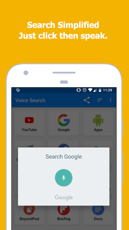 Screenshots - Voice Search - Speech to Text Searching Assistant
